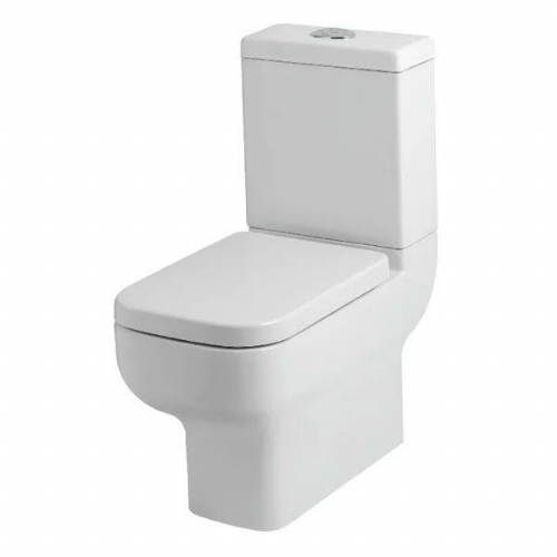 Kartell Options 600 Close Coupled Toilet - Cistern - Soft Close Seat - White